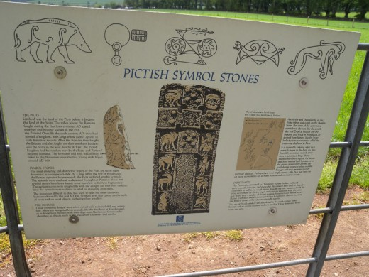 Pictish symbols found in stone.