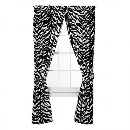 Zebra Print Curtains