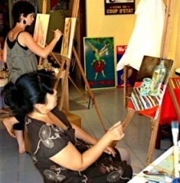 Painting at ArtSpace in Chiang Mai