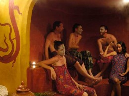 Wild Rose has a sauna where you can apply mud masks to your face, or just eat them.