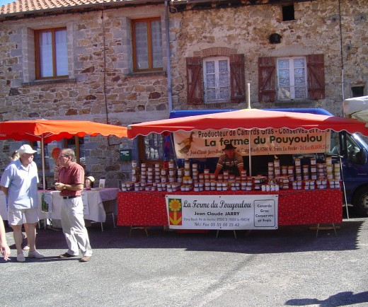 Many local producers bring their wares.