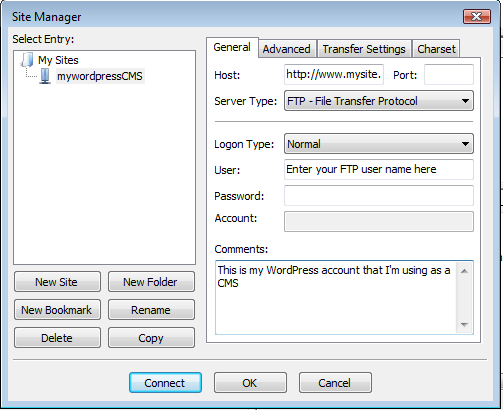 Diagram 5. The Site Manager configuration information