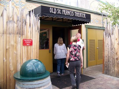 Heading into the Old St. Francis Movie Theater