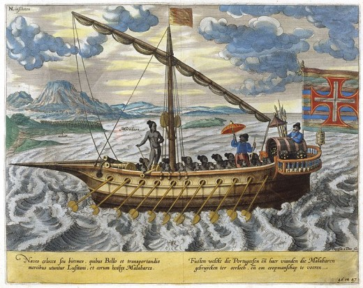 'Fusta' boat. The galliot emerged as a smaller, lighter type of galley. The number of oars or sweeps varied from 18 to 22 per side, the larger ones having twenty-five on each side. The fusta or fuste, likewise, was in essence a small narrow galley .