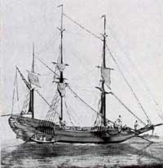 8th century ship propelled by 40-80 oarsmen and 1-2 sails, commonly used by the Angrian pirates in the Indian Ocean. Courtesy : www.thepirateking.com/ships/ship_types.htm