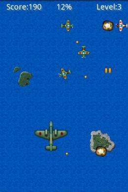 Pacific Wing, screenshot from Appbrain (apparently, you just blew up)