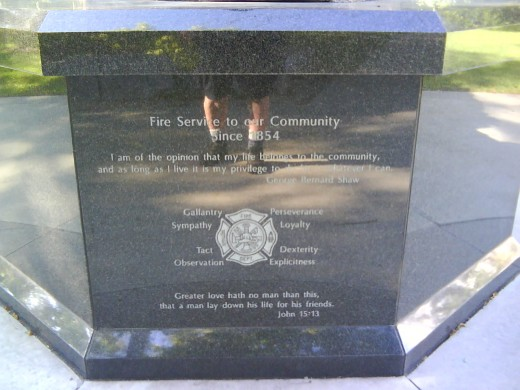 Fire Fighter's Memorial, Qualities of Firefighters quotes.