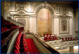 An inside view of the Ellen Eccles Theatre in Logan, Utah.