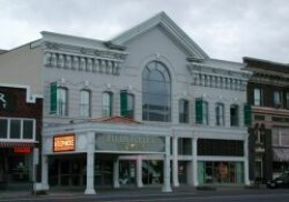 Restored to its original beauty, the Ellen Eccles theatre can be seen on Main Street in Logan.