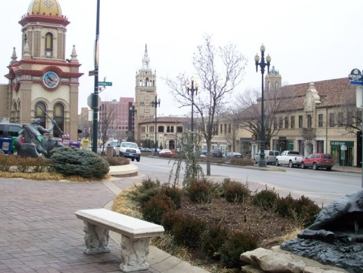 A view of the Plaza
