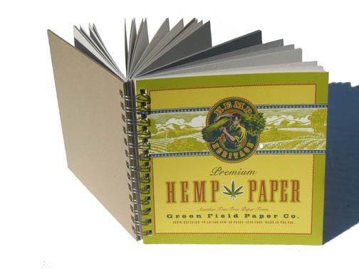 A sketchbook made from hemp paper