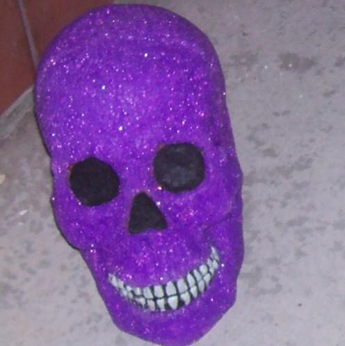Purple Halloween Skull