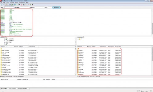 Diagram 3. Website root folder exposed in FileZilla