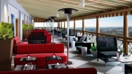POV lounge has a stunning view of the White House area of Washington
