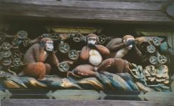 The three wise monkeys. Toshogu Shrine.