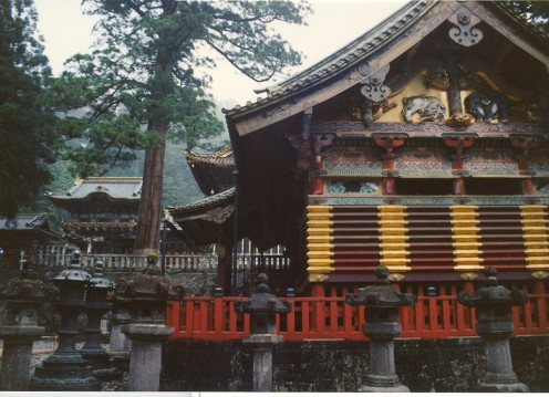 The Toshogu Shrine showing the Yomeimon Gate in the left background.