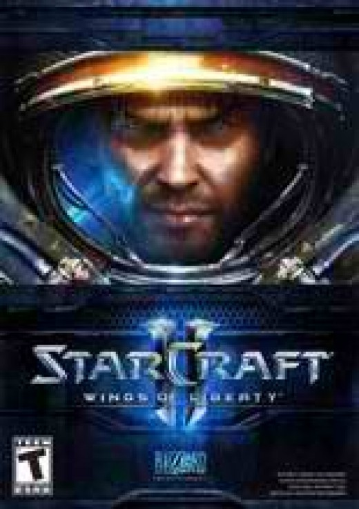 This is the official packaging for Starcraft 2: Wings of Liberty. The guy in the Marine suit is none other than Jim Raynor.