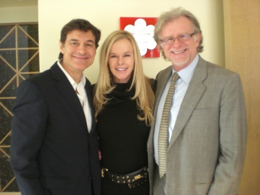 Founder of T.A. Sciences Noel Thomas Patton (far right) with Greta Blackburn and Dr. Mehmet Oz .