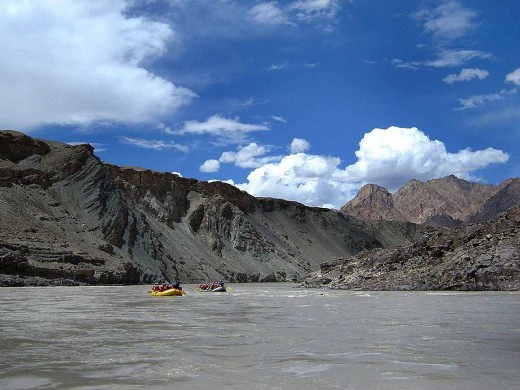 Rafting in Ladakh, India