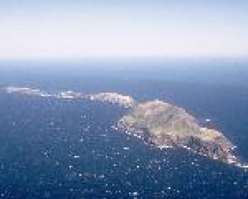 Anacapa Island from the air