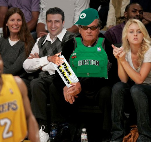 I managed to push my way through and sit next to Nicholson just before the Game 6 ended fatally for Lakers.