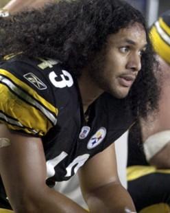 Steeler's NFL Player Troy Polamalu's Hair Insurance