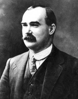 James Connolly executed after the Easter Rising 1916 in Ireland