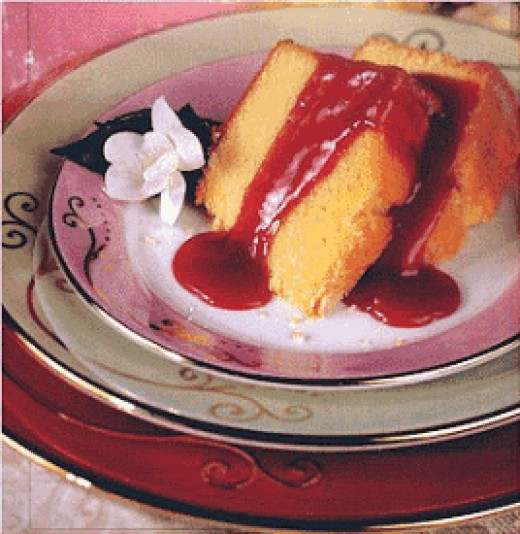 Berries And Cream Cheese Cake