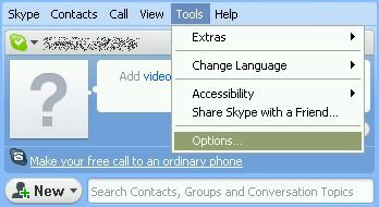 Webcam settings for Skype