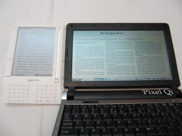 E Ink for a Kindle vs Pixel Qi (pronounce 'pixel chee')