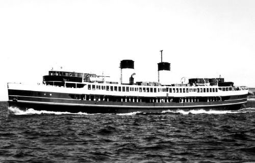 Melbourne collided with seven ships, including this Manly Ferry, the South Steyne