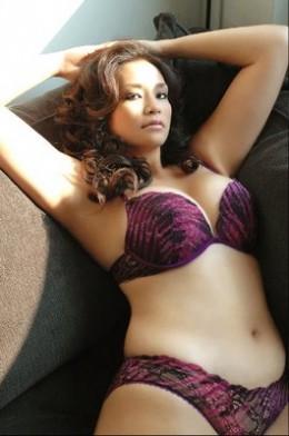 Full figured bikini model