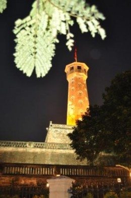 You can't miss this tower when you ride along the street called Dien Bien Phu!