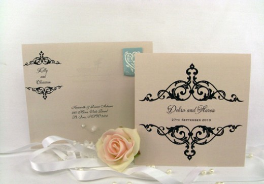 Elegant wedding invitations will set the atmosphere to your wedding day with