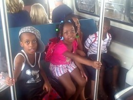 Our ride on the Monorail towards Disney's Park.