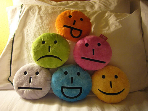 The emoticon pillow