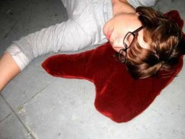 The pool of blood pillow