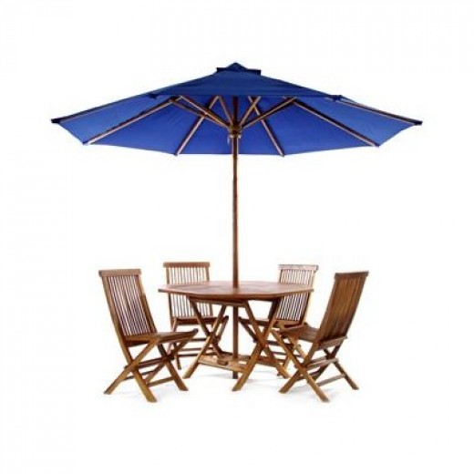 Teak wood patio furniture is very durable and a great investment for outdoor use.