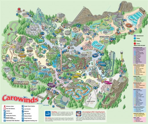 Carowinds is a family friendly amusement park owned by Cedar Fair.
