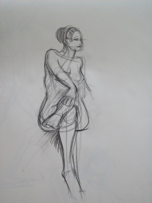 human female; 15 minute pose
