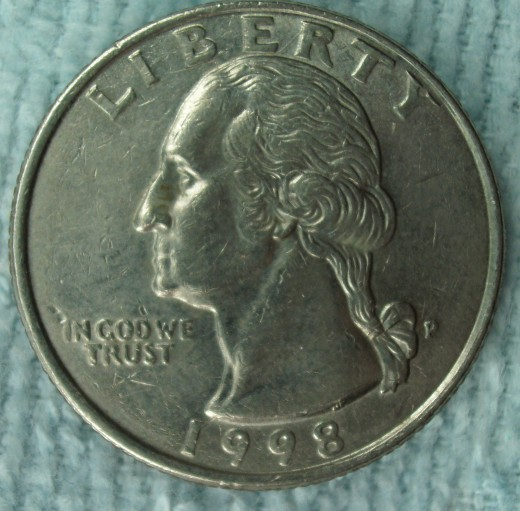 1998 Quarter with reverse die crack
