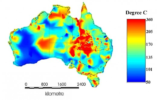 Figure 1. Geothermal Resources in Australia