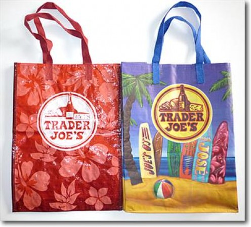 "Gotta love the ""cool & colorful"" bags from Trader Joe's-Marietta Georgia"