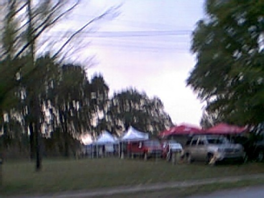 Razorback Fans, 2010 First Little Rock Game, tailgaters,