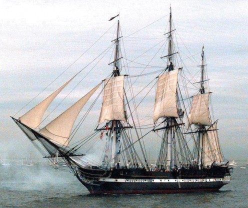USS Constitution...all those ropes...all those sails