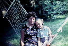My mother and myself, summer of 1968.