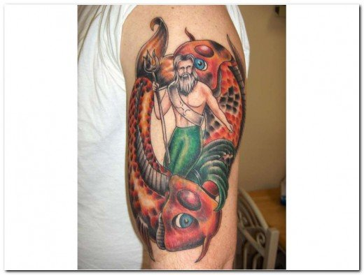 The first of my Pisces Tattoos is this awesome arm tattoo, now thats what ya