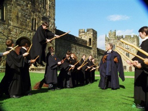 Broomstick practice proves to be troublesome to harry and his classmates