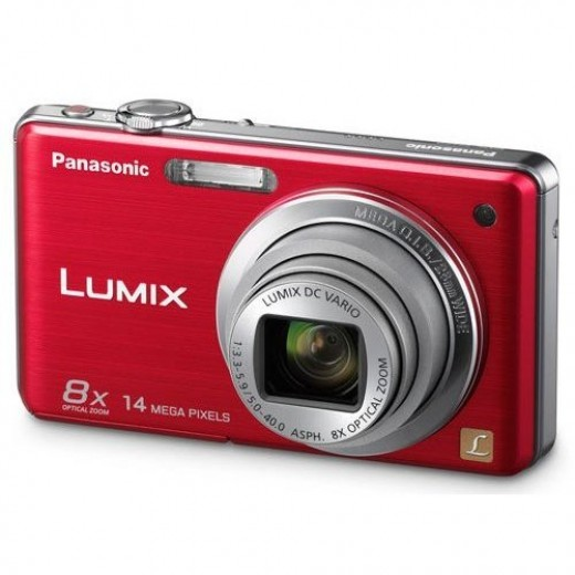 Panasonic Lumix DMC-FH20 14.1 MP Digital Camera with 8x Optical Image Stabilized Zoom and 2.7-Inch LCD (Red)