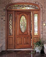 Oak Fiberglass entrance door set  precisionglass.net